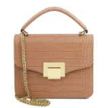 Imagine din Croc print mini bag Dusty Rose