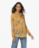 Obrázek Equipment Blouse Essential Satin in Ocre Yellow with Leaf Print
