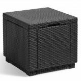 Afbeelding van Allibert Opbergpoef kubusvormig grafiet 213816