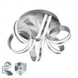 Obrázek Art deco ceiling lamp steel 19 cm dimmable Bling