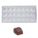 Afbeelding van Bonbonvorm Chocolate World Boog (24x) 30x27x19 mm
