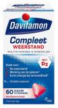 Afbeelding van Davitamon Compleet weerstand kauwvitamines aardbei (60 kauwtabletten)