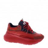 Afbeelding van Bronx Grayson leren chunky sneakers rood