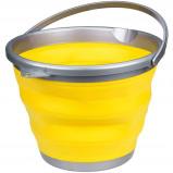 Afbeelding van Abbey Camp emmer opvouwbaar 15 liter geel/grijs
