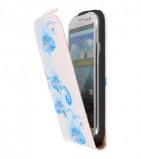 Afbeelding van Blauwe Bloem Flip Hoes voor de Samsung Galaxy S3 I9300
