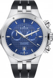 Afbeelding van Edox 10110 3CA BUIN herenhorloge blauw edelstaal