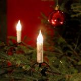 Afbeelding van Konstmide CHRISTMAS 20 lichts lichtketting, lampjes in waxlook, 14,8 m, plastic, E10, 3 W, energie efficiëntie: E, L: 1480 cm