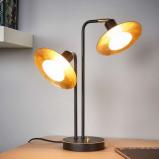 Afbeelding van 2 lichts led tafellamp Andrej, Lampenwelt.com, voor woon / eetkamer, metaal, 4 W, energie efficiëntie: A+, B: 31.5 cm, H: 40 cm
