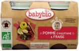 Afbeelding van Babybio Dessert Appel Aardbei 130 gram 6 Maanden, 2x130