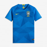 Abbildung von 2018 Brazil CBF Stadium Away Older Kids' Football Shirt Blue