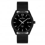 Afbeelding van Mats Meier Castor heren horloge mat zwart mesh