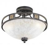 Abbildung von Country Round Ceiling Lamp 42 Rust Quinta