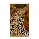 Afbeelding van Good Morning Leopard strandlaken 100% polyester velours 100x180