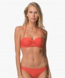 Image of Calvin Klein Bikini Top Molten Lava Front Twist Bandeau
