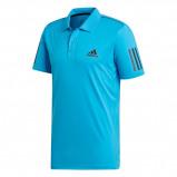 Afbeelding van Adidas 3 Stripes Club Tennispolo Heren Shock Cyan Black S