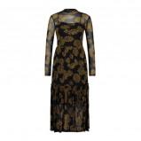 Afbeelding van Aaiko jersey jurk met dierenprint zwart/geel