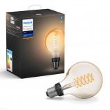 Afbeelding van philips Hue White 7 W E27 filament lamp Globe G95, kunststof, E27, W, energie efficiëntie: A+, L: 15 cm