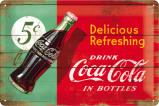 Afbeelding van Coca Cola Delicious Refreshing Groen Metalen Wandplaat 30x20cm Wandplaten
