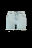Image de FSTVL by MS Mode Mesdames Shorts décolorés avec bords effilochés Denim