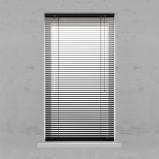 Afbeelding van Aluminium jaloezie 25 mm Smart Matte black 120x180