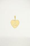 Afbeelding van Bedeltje in hartjesvorm met quote, custom collection