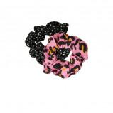 Afbeelding van Catwalk Junkie scrunchie (set van 2) met panterprint