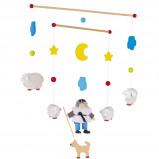 Afbeelding van Goki houten mobiel schapen 44,5 cm