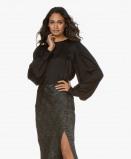 Image of ANINE BING Blouse Black Renee Silk satin