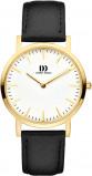 Afbeelding van Danish DesignIV11Q1235 Horloge staal goudkleurig zwart 35 mm