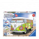 Afbeelding van avensburger Volkswagen bus T1 Hippie style 3D puzzel