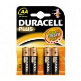 Afbeelding van Duracell Plus Power MN1500 AA batterij 4 pack niet oplaadbaar 1,5 volt