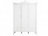 Afbeelding van Bopita 3 deurskast met laden Belle wit