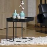 Billede af Bakke bord i sort metal