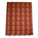 Afbeelding van Aquaplan aqua pan metalen dakpannenplaat classic 113 cm x 86 cm, rood