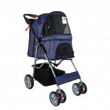 Bild av Agradi Pet Stroller with 4 Wheels Blue 68x46x100cm