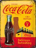 Afbeelding van Coca Cola In Bottles Geel Metalen Wandplaat 30x40cm Wandplaten