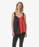 Image of By Malene Birger Top Bright Red Willyh Two Tone Satin