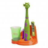 Afbeelding van Bestron DSA3500A Crazy Croc kindertandenborstelset elektrische tandenborstel