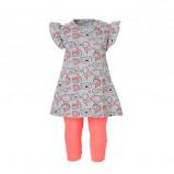Afbeelding van Dirkje baby jurk + legging met neon roze