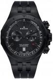 Afbeelding van Edox 10109 37NCA NINO herenhorloge zwart edelstaal PVD