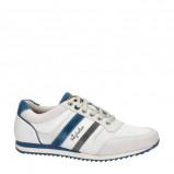 Afbeelding van Australian Cornwell leren sneakers met strepen wit