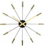 Afbeelding van Wandklok NeXtime dia. 58 cm, plastic, goud, 'Plug Inn'