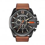 Afbeelding van Diesel DZ4343 Mega Chief horloge herenhorloge Zwart