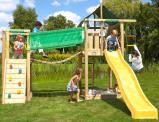 Image de Aire de Jeux avec Passerelle Lodge Bridge Jungle Gym