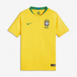 Image of 2018 Brazil CBF Stadium Home Older Kids' Football Shirt Gold