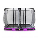 Bilde av EXIT Elegant bakketrampoline 214x366cm med Deluxe sikkerhetsnett fiolett