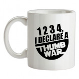 Imagine din 1234 I Declare A Thumb War female t shirt.