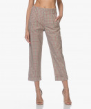 Image of Drykorn Pants - Delay Checkered Beige