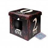 Afbeelding van D&d Cat ottoman One Dark Brown 38x38x38cm