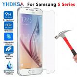 Εικόνα του 0.22mm 9H Protective Glass on the For Samsung Galaxy S7 S6 S5 S4 S3 mini Note 5 4 3 Tempered Screen Protector Glass Film Case